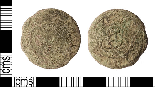 IOW-0FC00D: Post-Medieval: Nuremberg 'Lion of St Mark' Jetton issued by Iorg Schultes