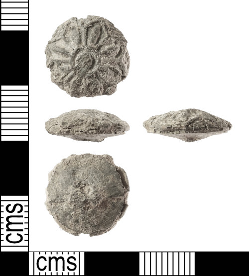 IOW-7E8DEB: Post-Medieval: Lead Button