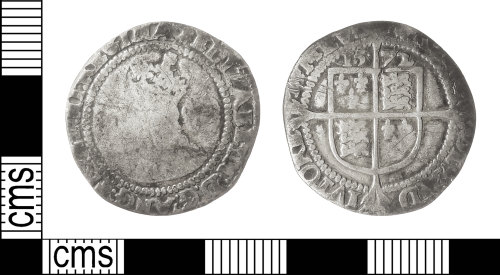 IOW-CFB305: Post-Medieval Coin: Sixpence of Elizabeth I
