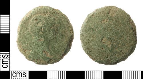 IOW-6ACB0D: Roman Coin: Sestertius