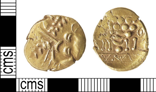 IOW-A683BB: Iron Age Coin: Gold Stater of the Southern Region / Regini and Atrebates