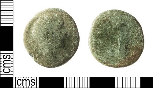 IOW-6BAE48: Roman Coin: Dupondius of Antoninus Pius