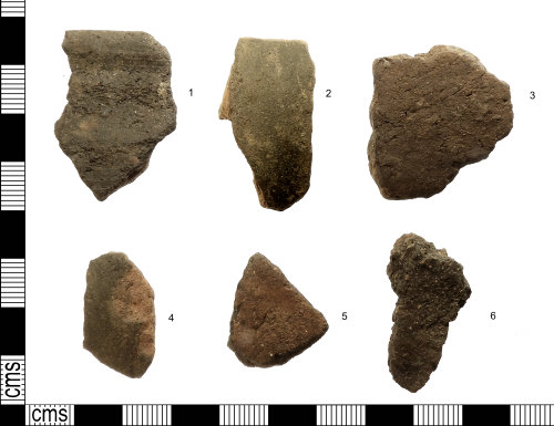 IOW-83FC0F: Roman: Group of Vectis Ware Pottery Sherds