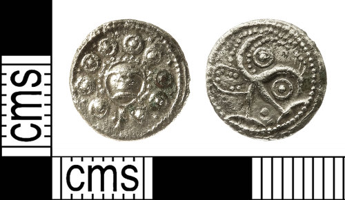 IOW-878AE9: Early-Medieval (Anglo-Saxon) Coin: 'Wodan' Series H, Type 49 Sceat