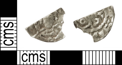 IOW-6033ED: Medieval Coin: Cut Halfpenny of Henry I