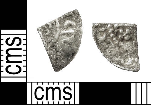 IOW-6E49AD: Medieval Coin: Cut Farthing of Henry II or Richard I