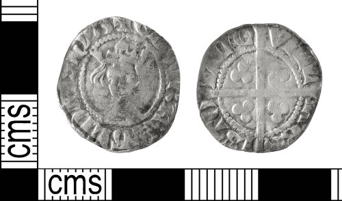 IOW-5FCF9F: Medieval Coin: Penny of Edward I