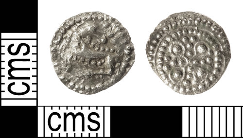 IOW-098179: Early-Medieval (Anglo-Saxon) Series O/Annulet cross type Sceat