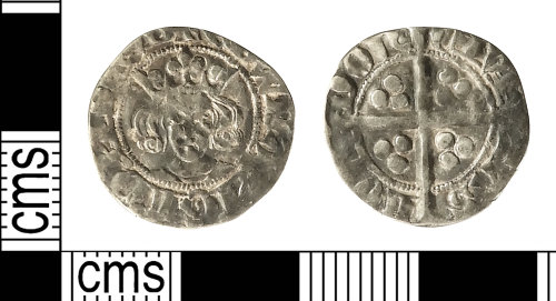 IOW-0B5A75: Medieval Coin: Penny of Edward III