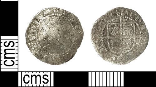 IOW-8798D1: Post-Medieval Coin: Halfgroat of Elizabeth I