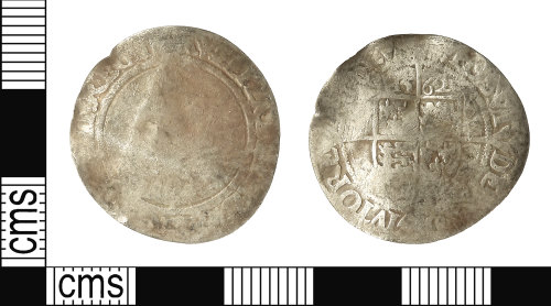 IOW-881A7A: Post-Medieval Coin: Sixpence of Elizabeth I