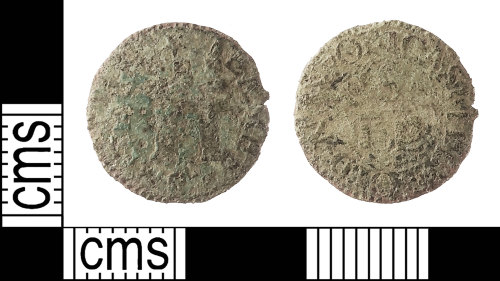 IOW-A78D09: Post-Medieval: Token Farthing issued by James Smith of Castlehold, Newport, Isle of Wight