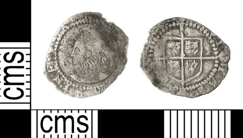 IOW-5618C8: Post-Medieval Coin: Penny of Elizabeth I