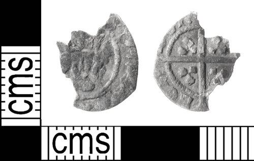 IOW-6EB517: Medieval Coin:  Halfpenny, probably of Edward IV, possibly of Edward III