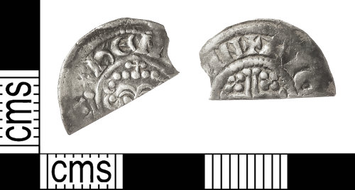 IOW-BE5477: Medieval Coin: Cut Halfpenny of John