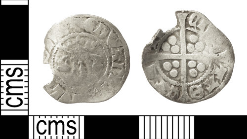 IOW-BED08C: Medieval Coin: Penny of Edward I