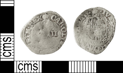 IOW-ADD345: Roman Coin: Halfgroat of Charles I