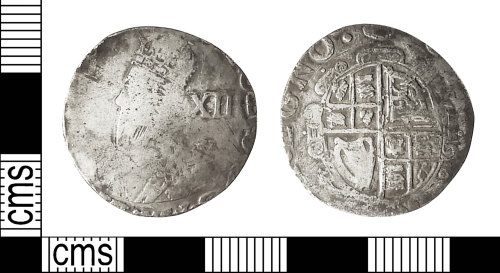 IOW-91A693: Post-Medieval Coin: Shilling of Charles I