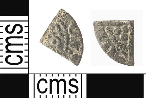 IOW-C94E2F: Medieval Coin: Cut Farthing of Henry III
