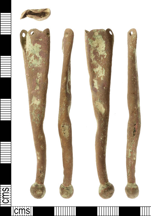 IOW-DC40E2: Medieval to Post-Medieval: Scabbard Chape