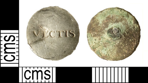 IOW-0BE29C: Post-Medieval: Military Button of the Isle of Wight (or Vectis) Cavalry