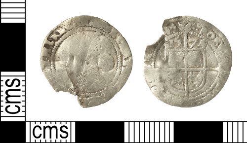 IOW-29DC05: Post-Medieval Coin: Threepence of Elizabeth I