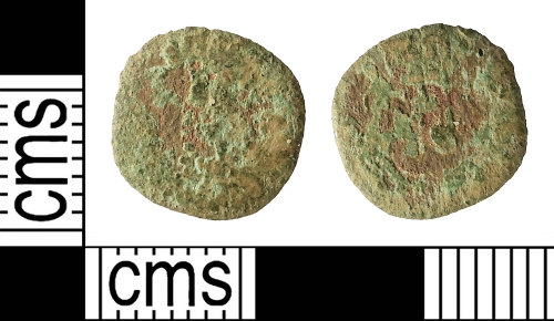 IOW-7CAFB4: Post-Medieval Coin: Rose Farthing of Charles (possibly)I