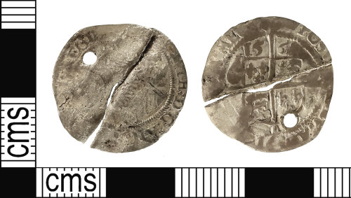 IOW-34410B: Post-Medieval Coin: Threepence of Elizabeth I