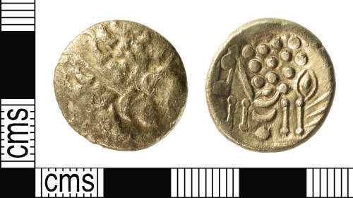 IOW-797D74: Iron Age Coin: Uninscribed South-Western Stater of the Durotriges
