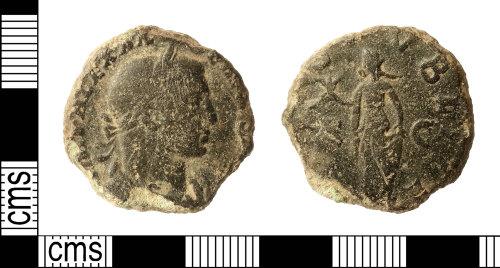 IOW-89A60C: Roman Coin: Sestertius of Severus Alexander
