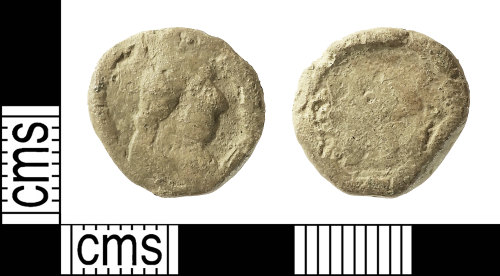 IOW-4ACD5B: Post-Medieval Lead Token