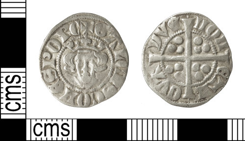 IOW-94BF97: Medieval Coin: Coin of Gaucher of Chatillion (imitation Edwardian l penny)