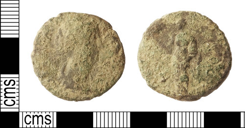 IOW-4FAC29: Roman Coin: As (probably) of Diva Faustina