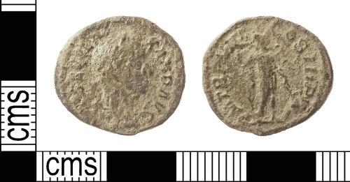 IOW-F8A2A7: Roman Coin: Nummus