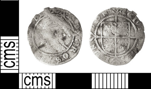 IOW-F55A56: Post-Medieval Coin: Halfgroat of Elizabeth I