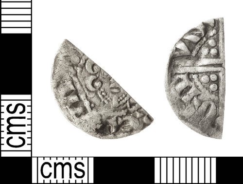 IOW-A16162: Medieval Coin: Cut Halfpenny of Henry III