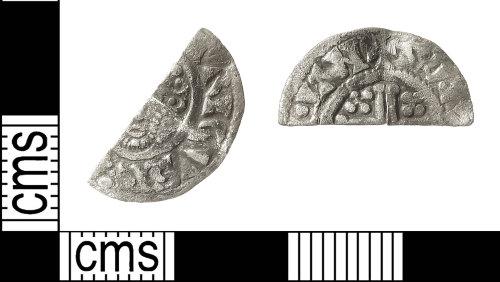 IOW-713B23: Medieval Coin: Cut Halfpenny of John