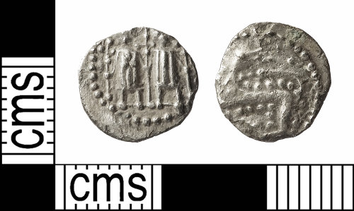 IOW-FF59B7: Early-Medieval (Anglo-Saxon) Coin: Series N, Type 41 Sceat