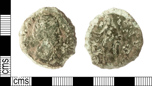 IOW-0DEF74: Roman Coin: Sestertius of Diva Faustina I