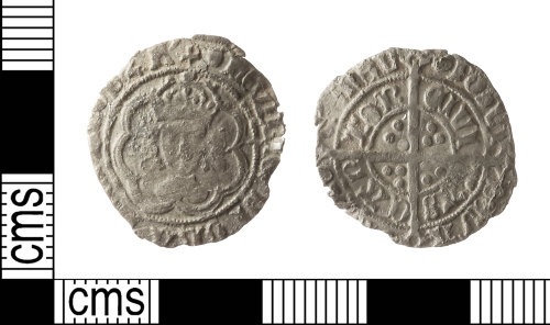 IOW-461F71: Medieval Coin:  Halfgroat of Henry VII
