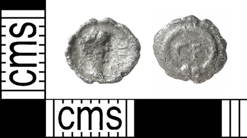 IOW-E67AB1: Iron Age Coin: Minim of the Atrebates, struck by Verica