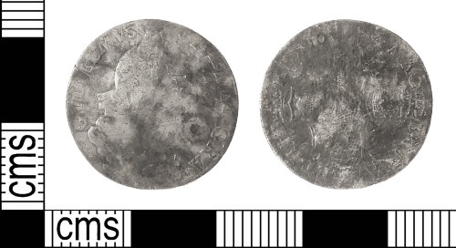 IOW-CA1F66: Post-Medieval Coin: Sixpence of William III