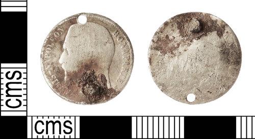 IOW-88AE4C: Post-Medieval Coin: 50 Cents of Louis-Napoleon Bonaparte
