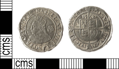 IOW-623826: Post-Medieval Coin: Threepence of Elizabeth I