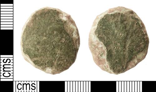 IOW-52F0DF: Roman Coin: Dupondius or As (uncertain ruler)
