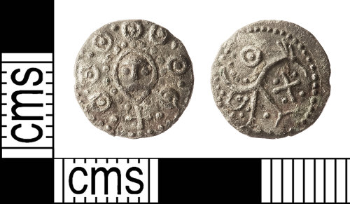 IOW-F8E8A9: Early-Medieval (Anglo-Saxon) Coin: Series H, Variety 3i, Type 49 (HB03) Sceat