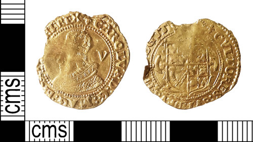 IOW-F437E8: Post-Medieval Coin: Crown of Charles I