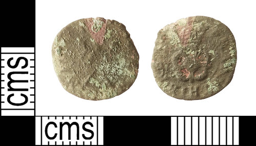IOW-F489BC: Post-Medieval Coin: Rose Farthing of Charles I