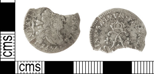 IOW-E0C00F: Post-Medieval Coin: Sol-piece of Louis XIV of France