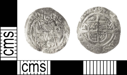 IOW-D5CBBC: Post-Medieval Coin: Penny of Henry VIII